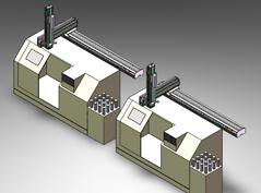 工具机加工件取放装置