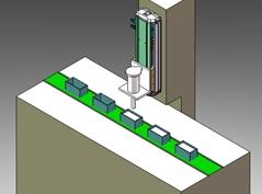 线性滑台充填装置